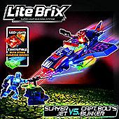 Lite Wars Lite Brix - Slayer Jet Vs. Captain Bolt's Bunker