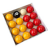 Competition 2'' Red & Yellow Pool Ball Set (Coin Operated Tables)
