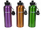 750Ml Water Bottle with 2 Lids - Brown - Summit