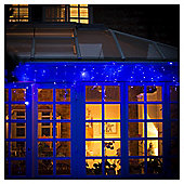 Festive 960 Blue Led Icicle Lights With Controller