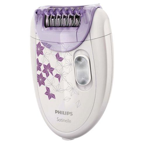 Philips Satinelle Corded Epilator HP6422/00 with Optistart Cap Massage Roller