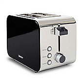Igenix IG3202BL 2 Slice Toaster - Black and Polished Stainless Steel