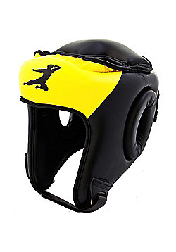 Bruce Lee Signature Boxing Head Guard Synthetic Leather - Yellow