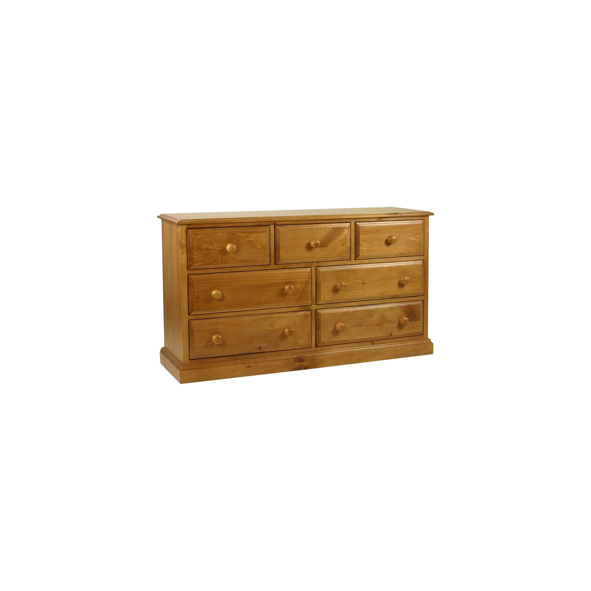 Kelburn Furniture Pine 3 Over 4 Drawer Wide Chest in Antique Wax Lacquer at Tesco Direct