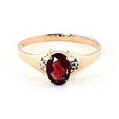QP Jewellers Diamond & Garnet Oval Desire Ring in 14K Rose Gold