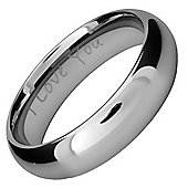 Willis Judd New 6mm Tungsten Ring Engraved I Love You