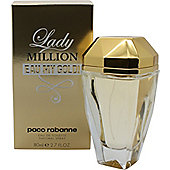 Paco Rabanne Lady Million Eau My Gold! Eau de Toilette (EDT) 80ml Spray For Women