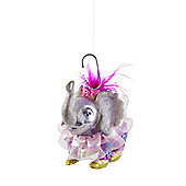 Glass Circus Elephant Christmas Tree Bauble Decoration