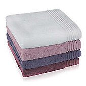 Möve Bamboo Luxe Terry Towels (Set of 2) - 30cm x 30cm - Plum