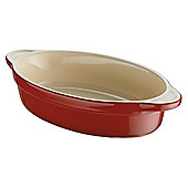 Denby Ceramic Small Oval Dish, Cherry Red