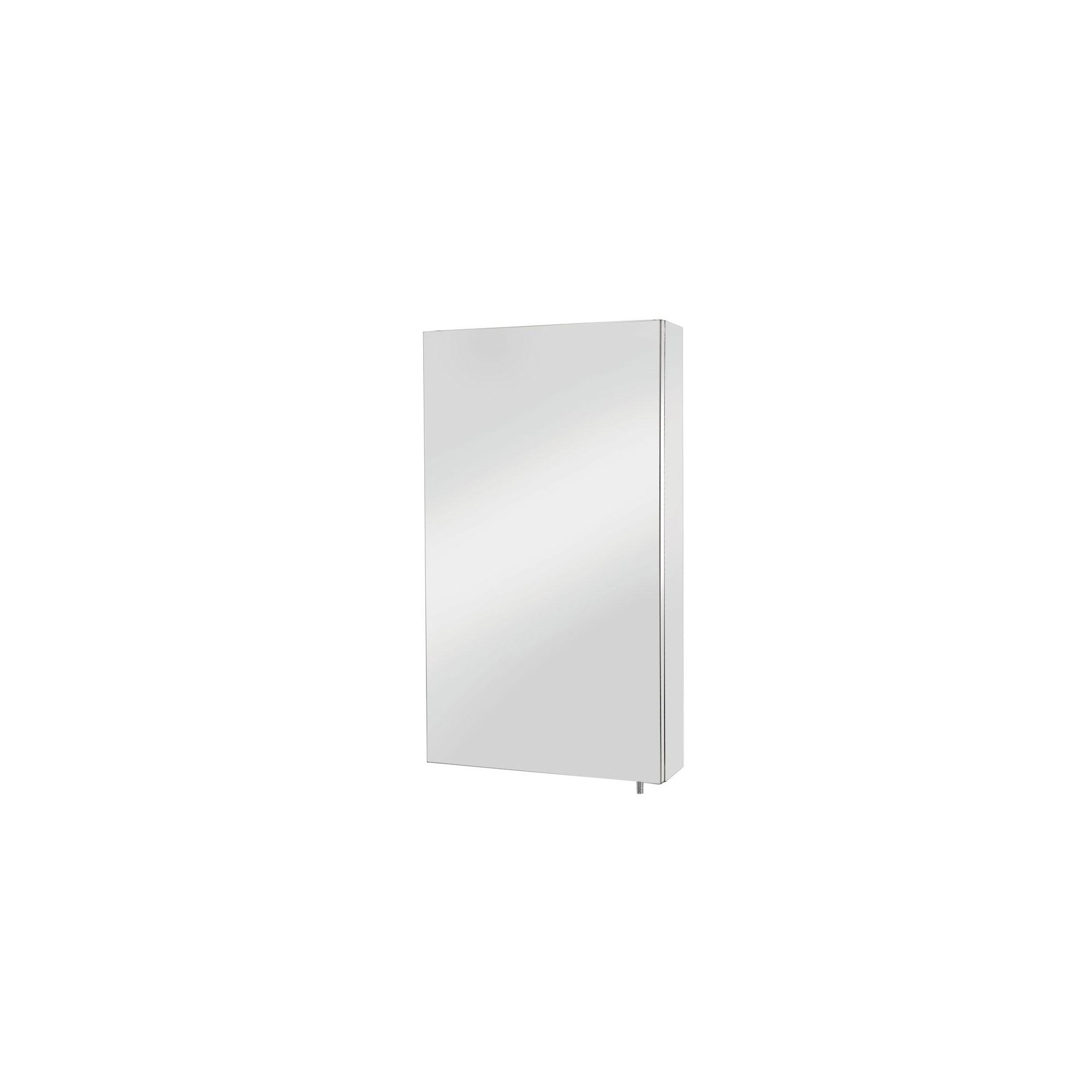 Croydex Colorado Large Single Door Stainless Steel Bathroom Cabinet