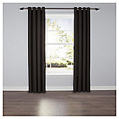 Textured Plain Eyelet Curtains - Charcoal