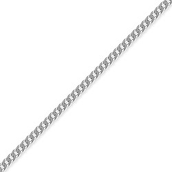 Sterling Silver 3mm Gauge Curb Chain - 18 inch