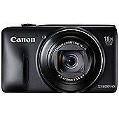 Canon Powershot SX600 HS Camera Black 16MP 18xZoom 3.0LCD FHD 25mm Wide Lens