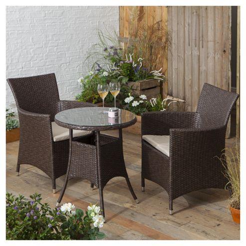 buy rattan garden bistro set brown from our rattan garden. Black Bedroom Furniture Sets. Home Design Ideas