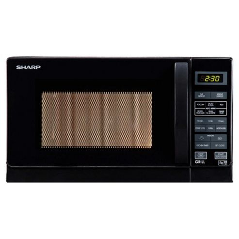 Sharp R662KM Compact 20L Grill Microwave Black