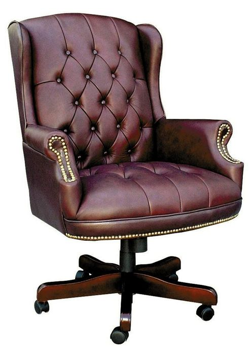 Modal Chairman Traditional Executive Swivel Chair - Burgundy