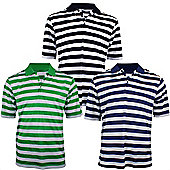 Woodworm Pro Stripe Mens Golf Polo Shirts - 3 Pack 2X Large