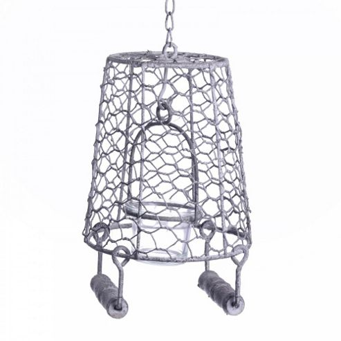 Rustic Hanging Metal Bucket Single Tealight Holder