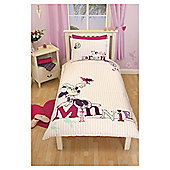 Minnie Mouse Hummingbird Duvet Cover Set