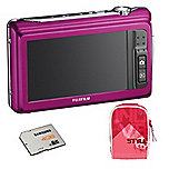Fuji Z90 14MP Pink Digital Camera Bundle