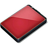 Buffalo MiniStation Plus HD-PNTU3 (1TB) USB 3.0 Shock Proof Portable Hard Drive (Red)