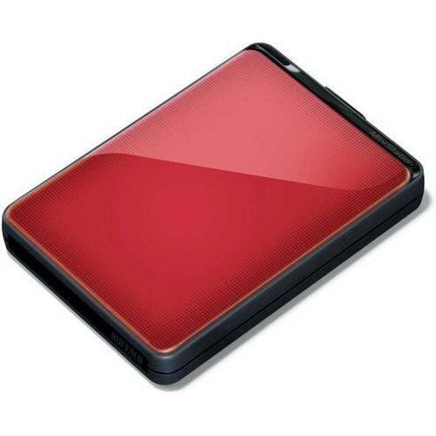 Buffalo MiniStation Plus HD-PNTU3 (1TB) USB 3.0 Shock Proof Portable Hard Drive (Red)
