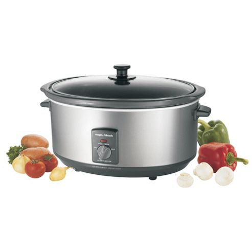 Morphy Richards Brushed SS 6.5L Slow cooker