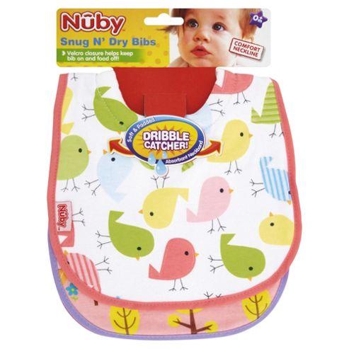 Nuby 2 X Snug & Dry Bibs