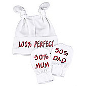 Spoilt Rotten - 100% Perfect Knot Hat & 50% Mum And 50% Dad Scratch Mits Set