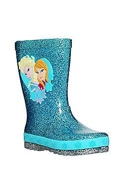 Disney Frozen Glitter Light Up Wellies - Blue