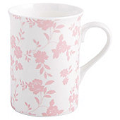 Tesco Pink  Fine Bone China Traditional Floral Mug Single
