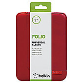 "Belkin Universal 7"" Tablet Portfolio Sleeve - Red"