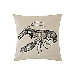 Linea Lobster Print Cushion - Beige
