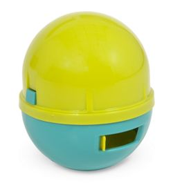 Aspen Pet Wobbling Treatball Cat Toy in Lime/Aqua