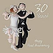 Holy Mackerel Happy 30th Wedding Anniversary. Happy Pearl Anniversary Greetings Card