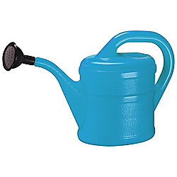 2L Children's Light Blue Plastic Garden Watering Can with Rose