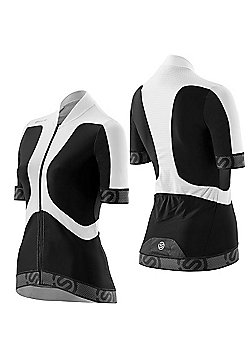 Skins Womens Compression Cycle Jersey - Black & White
