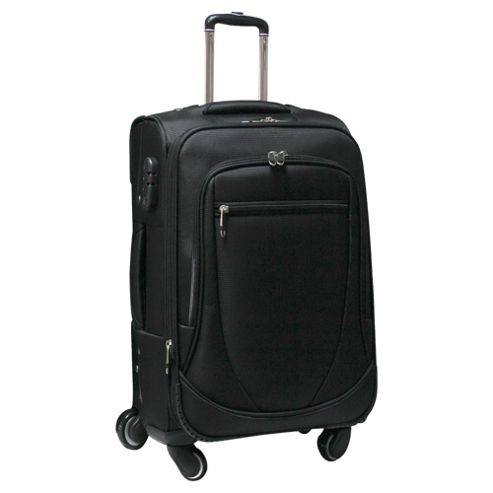 Tesco 4-Wheel Expandable Suitcase, Black Large