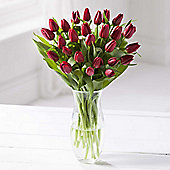 Simply Tulips Red Bouquet