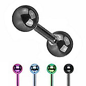 Urban Male Pack Of Four Titanium Anodised Body Piercing Tragus Barbells