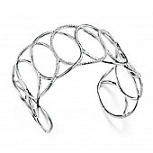 CZ Silver Entwined Hoops Open Bangle