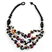 3 Strand Multicoloured Shell & Bead Necklace