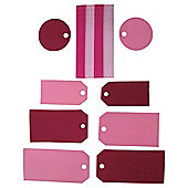 Tags & Ribbons Small Pink