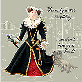 Holy Mackerel Greeting Card - Mary Queen of Scots Birthday Greetings card