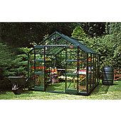 Elite Belmont Greenhouse – 8 x 10 - Green Powdercoat Finish + Double Doors – Horticultural Glass