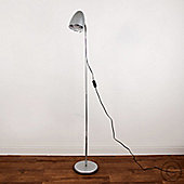 Kuppel Adjustable Flexi Neck Floor Lamp in Metallic Silver & Chrome