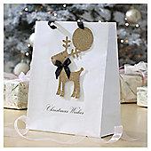 Glitter Reindeer Christmas Gift Bag, Large