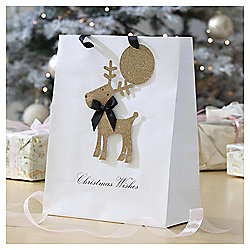 Glitter Reindeer Christmas Gift Bag, Large
