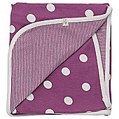 Pigeon Organics Reversible Blanket, Spotty (Raspberry)